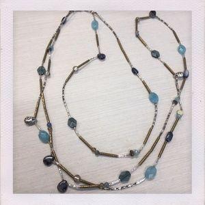 Silpada Brass, Silver, & Labrodite Necklace